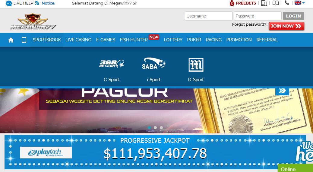 Megawin77 Link Alternatif (2018) Judi Bola, Casino Extra Bonus 200%