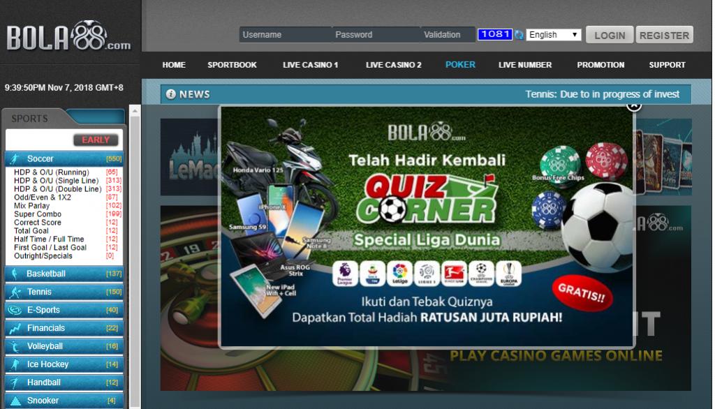 Bola88 Link Alternatif Bola Sbobet, Casino Online, Poker
